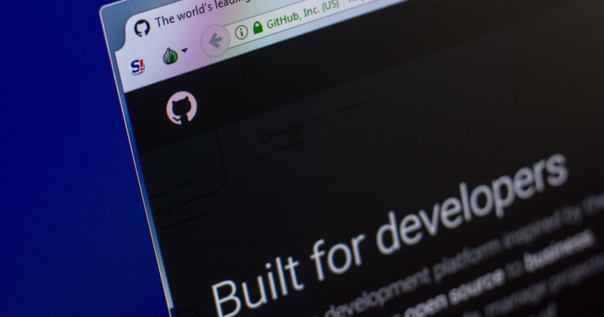 GitHub website on a developer´s screen display