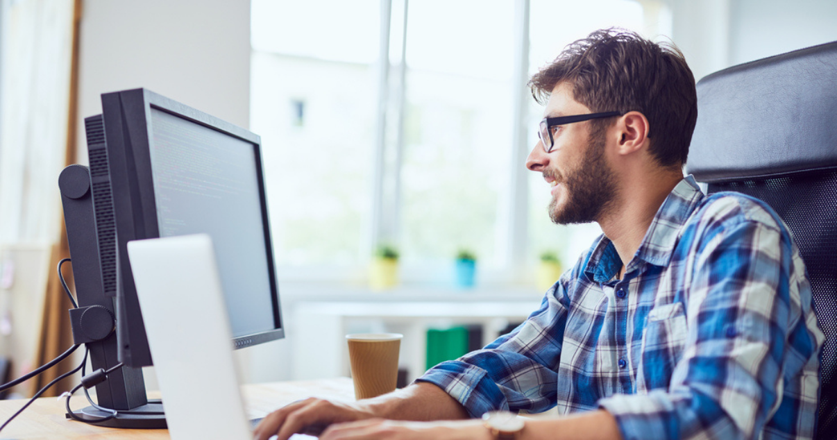 Programmer developing coding skills